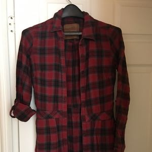 Roots Flannel Shirt with Defined Waist + Pockets!